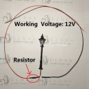 12V classic yard lamp----with resistor