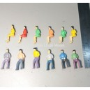1:75 OO scale sitting figures