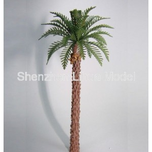 copper coconut tree---HO OO G crafted Architectural Scale