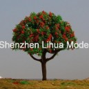 flower tree 01H---plastic model scale miniature color tree
