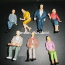 1:25 all seated color figures----model figures scale figures
