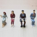 1:30 all seated color figures----model figures scale figures