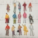1:75 OO scale mixed figures--for architectural model building