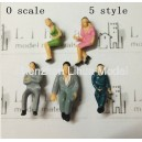 1:50 all seated color figures----model figures scale figures