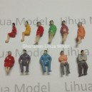 1:100 TT scale sitting figures----for model train layouts