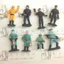 1:50 engineer--worker model figures scale figures