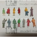 1:150 N scale standing figures----for model train layouts