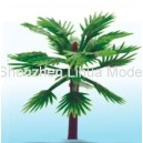 thin stem short palm tree---plastic architectural model tree