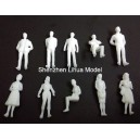 1:50 white figures---scale unpainted figures model people