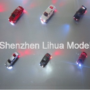 lighted plastic car--scale 1:50/1:75/1:100/1:150/1:200